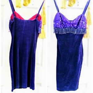 True Vintage flapper style purple velvet